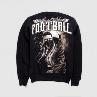 US057 Football sweatshirt black
