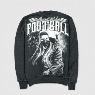 US057 Football sweatshirt graphite