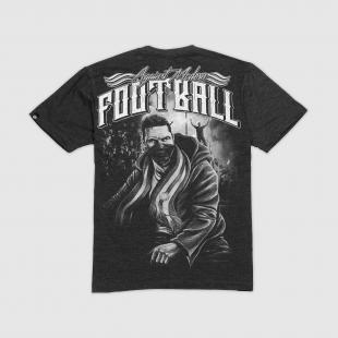 US057 Football tshirt graphite