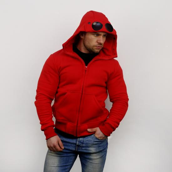 Goggle Hoodie - red
