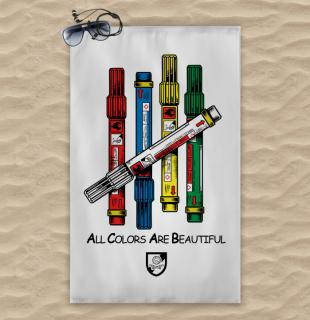 Al colors are Beautiful towel 120x74