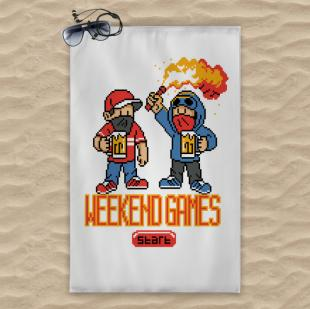 Weekend games towel 120x74