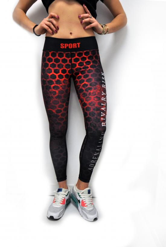 MDS Leggings hexagon red