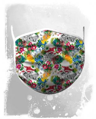 Face mask flowers2